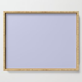 Twilight Mist Pale Lavender Blue Satin Serving Tray