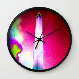 Catharsis on the Mall - 2017 - Magenta Sky Wall Clock