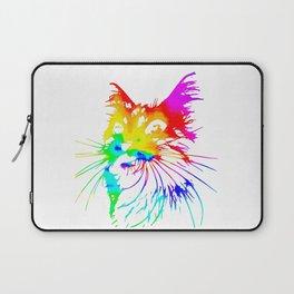tie dye cat splash art Laptop Sleeve
