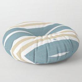 HERRINGBONE STRIPE VI - BLUE LAGOON Floor Pillow