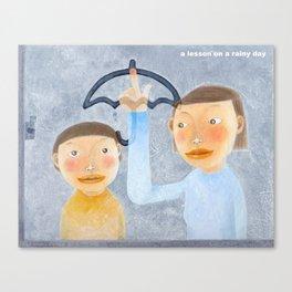 a lesson on a rainy day Canvas Print