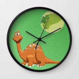 Dino Doodle Wall Clock