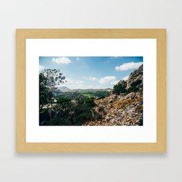 rhodes, greece Framed Art Print