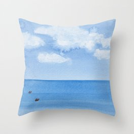 Two Seals Pop Up Throw Pillow