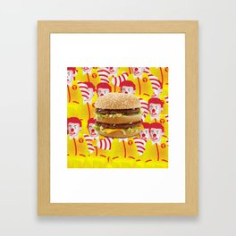 Mc Donald Trump Framed Art Print