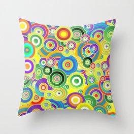 Psychedelic Circles #society6 #decor #buyart Throw Pillow