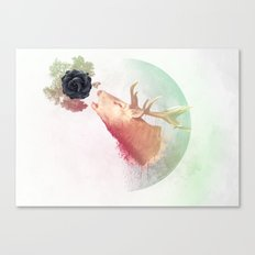 Deer Howling for NATURE!  Canvas Print