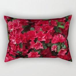 Red Azalea Blooms Rectangular Pillow