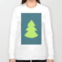 christmas tree Long Sleeve T-shirts featuring (Christmas) Tree by Mr & Mrs Quirynen