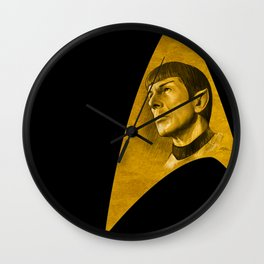 "Homage to Leonard Nimoy - Mr. Spock ""Star Trek"" Wall Clock"