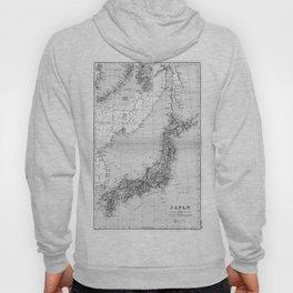 Vintage Map of Japan (1892) BW Hoody