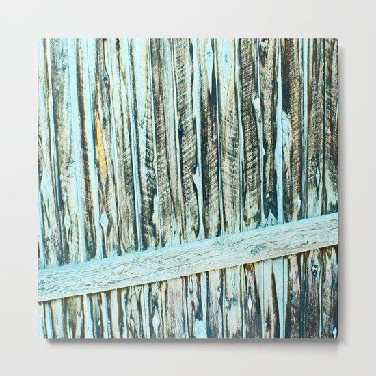 Abstract Wood Metal Print