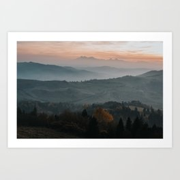 Hazy Mountains - Landscape and Nature Photography Art Print