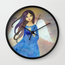 Christmas Angel Wall Clock
