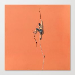Climbing: Solitude Canvas Print