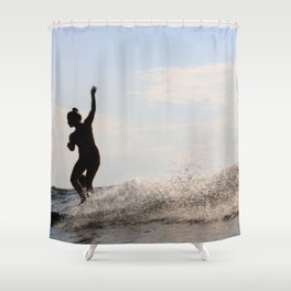 Water-dancer Shower Curtain