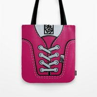 vans Tote Bags featuring Pink Vans shoes iPhone 4 4s 5 5s 5c, ipod, ipad, pillow case and tshirt by Three Second