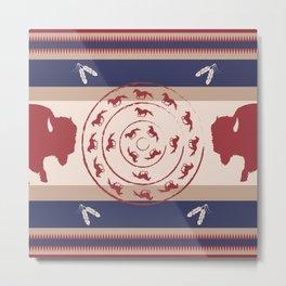 American Native Pattern No. 27 Metal Print