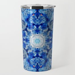 Aqua Crystal Mandala Travel Mug