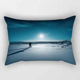 Guided by Moonlight Rectangular Pillow