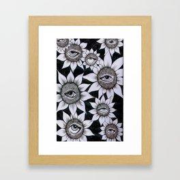 Sunflower Vision Framed Art Print