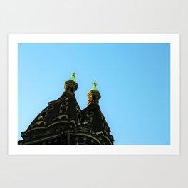 Castle in the city Art Print