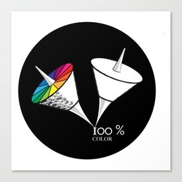 100 % color Canvas Print