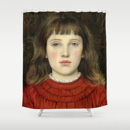 "Evelyn De Morgan ""Portrait of Alice Mildred Spencer Stanhope"" Shower Curtain"