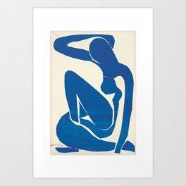 Matisse original prints, Blue nude, Blue women poster, Henri matisse, The cut out blue nude, Abstract women wall art, Original artwork Art Print