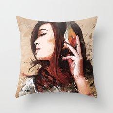 Butterfly Music Throw Pillow