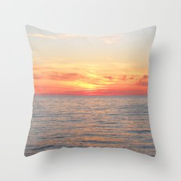 Watercolor Sunset, Cape Breton 02, Nova Scotia, Canada Throw Pillow