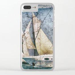 Schooner Sailing Ship Yacht Clear iPhone Case