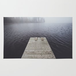 Fading into the mist Rug