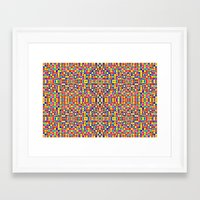morrocan Framed Art Prints featuring Rainbow Mosaic Pixels by 2sweet4words Designs