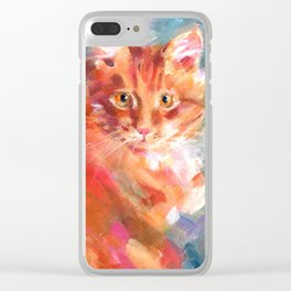 Orange Marmalade Clear iPhone Case