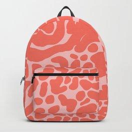 King Cheetah Print in Neon Coral + Blush Pink Backpack