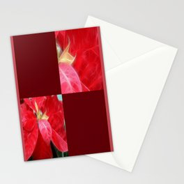 Mottled Red Poinsettia 2 Blank Q10F0 Stationery Cards
