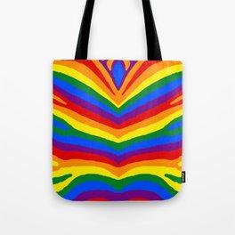 Gay Pride Rainbow Flag Zebra Safari Stripes Tote Bag