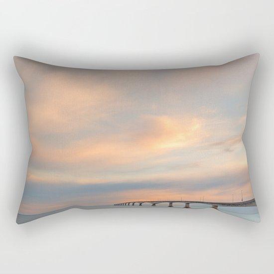 Sunset Sky Bridge Rectangular Pillow