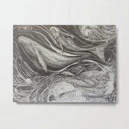 Deep Dive Metal Print