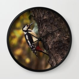 Great spotted woodpecker Wall Clock