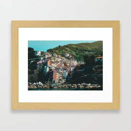 Colored Houses of Italy Framed Art Print