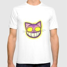 GhostKat head SMALL White Mens Fitted Tee