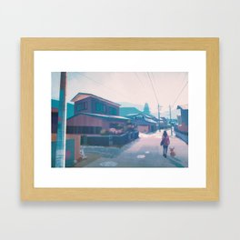 Lavender Town - Kanto in real life Framed Art Print