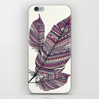 feathers iPhone & iPod Skins featuring FEATHERS by Monika Strigel