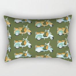 Vespa - green  Rectangular Pillow
