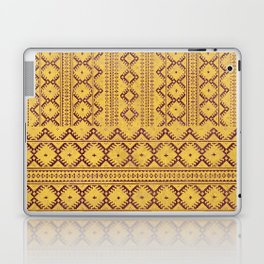 kilim geo in sunny yellow Laptop & iPad Skin