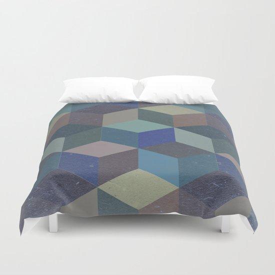 Dimension in blue Duvet Cover