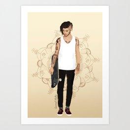 Skater Zayn  Art Print