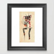 Dancing Mascarita Framed Art Print
